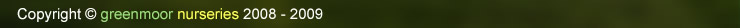 greenmoor nurseries - copyright 2008